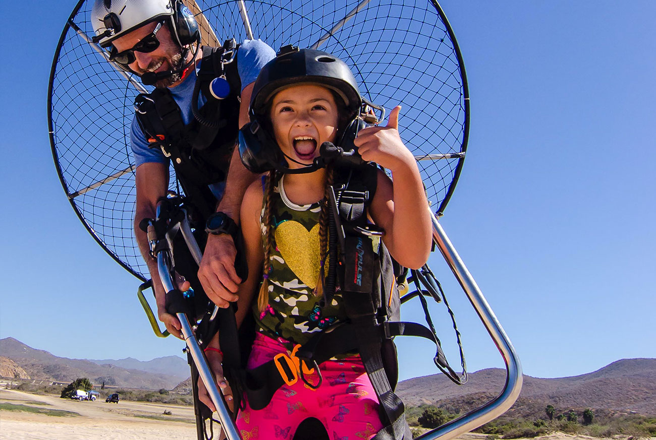 Child Friendly Powered Paragliding in Cabo