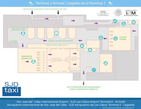 Cabo Airport Map Terminal 2